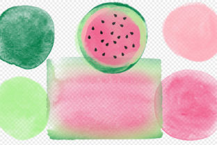 Print on Demand: Watermelon Watercolor Elements Clipart Graphic Illustrations By Digital Curio 3