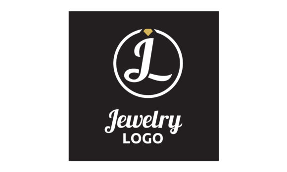 Download Free Diamond Jewelry Initial Jl Circular Logo Graphic By Enola99d for Cricut Explore, Silhouette and other cutting machines.