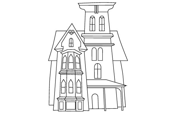 Download Free Creepy House Svg Cut File By Creative Fabrica Crafts Creative for Cricut Explore, Silhouette and other cutting machines.