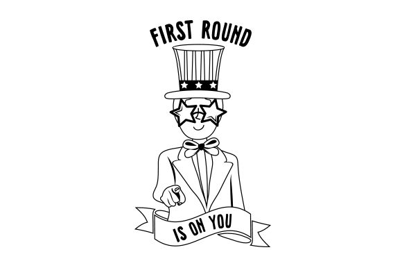 First Round is on You! Happy Hour Craft Cut File By Creative Fabrica Crafts - Image 2
