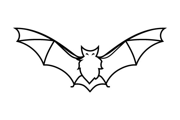 Creepy Bat Line Art Style Halloween Craft Cut File By Creative Fabrica Crafts