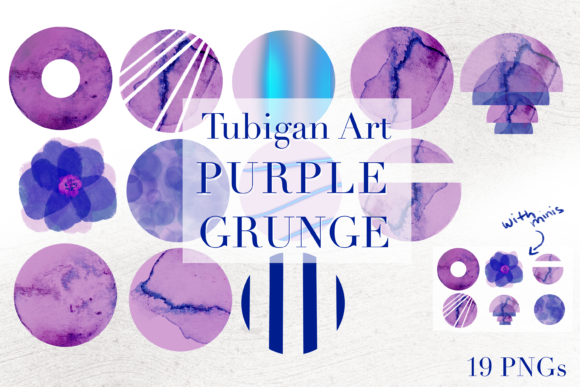 Print on Demand: 19 Purple Grunge Instagram Stories Graphic Illustrations By Tubiganart