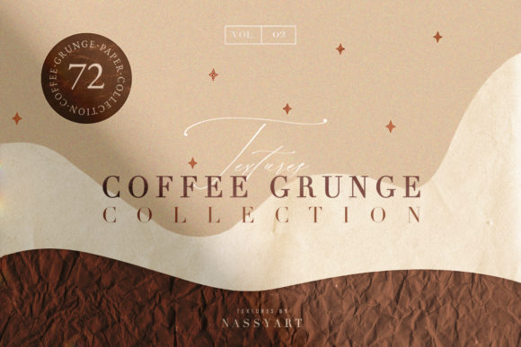 72 Coffee Grunge Textures Graphic Textures By NassyArt