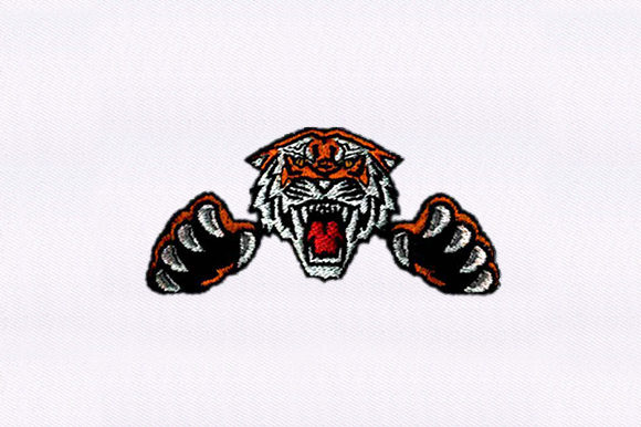 Attacking Tiger Wild Animals Embroidery Design By DigitEMB