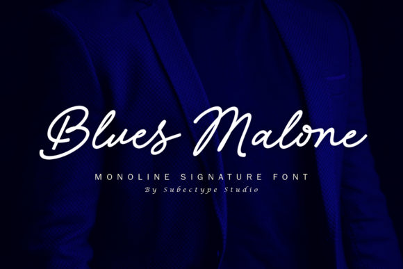 Print on Demand: Blues Malone Script & Handwritten Font By Subectype