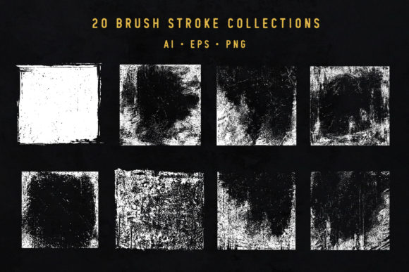 Brush Stroke Collection Graphic Brushes By AllmoStudio