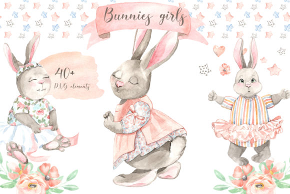 Print on Demand: Bunnies Girls Graphic Illustrations By laffresco04
