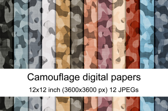 Print on Demand: Camouflage Digital Papers Graphic Patterns By Andrea Kostelic