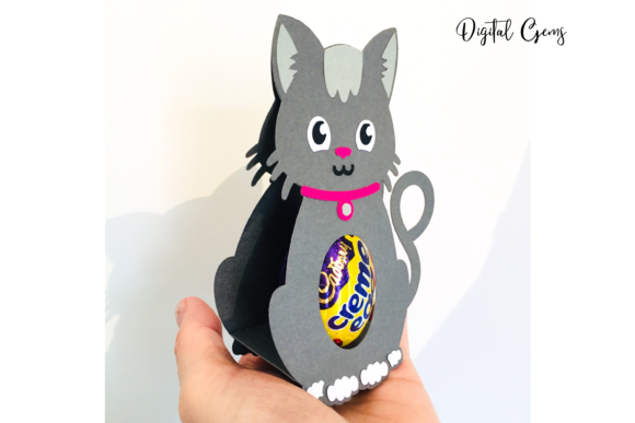 Cat Egg Holder Design Graphic 3D SVG By Digital Gems - Image 2