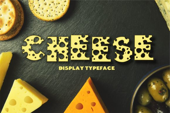 Print on Demand: Cheese Display Font By Typography Morozyuk