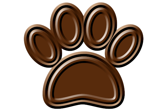 Download Free Chocolate Dog Paw Print Graphic By Almdrs Creative Fabrica for Cricut Explore, Silhouette and other cutting machines.