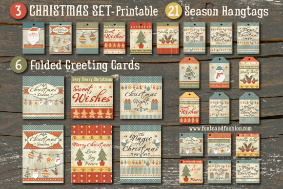 Christmas Triple Set Graphic Crafts By Fontsandfashion