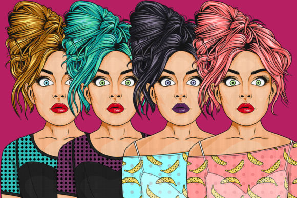Comic Style Pop Art Girls Graphic Illustrations By Dapper Dudell - Image 2