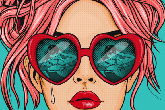 Comic Style Pop Art Girls Graphic Illustrations By Dapper Dudell - Image 4