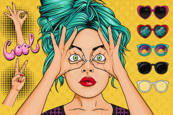 Comic Style Pop Art Girls Graphic Illustrations By Dapper Dudell - Image 5