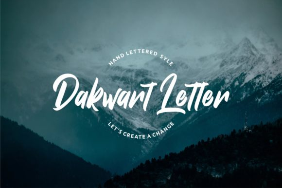 Print on Demand: Dakwart Letter Script & Handwritten Font By Creative Fabrica Freebies