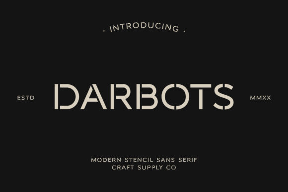 Print on Demand: Darbots Sans Serif Font By craftsupplyco