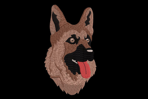 Print on Demand: Dog German Shepherd Dogs Embroidery Design By Embroidery Shelter
