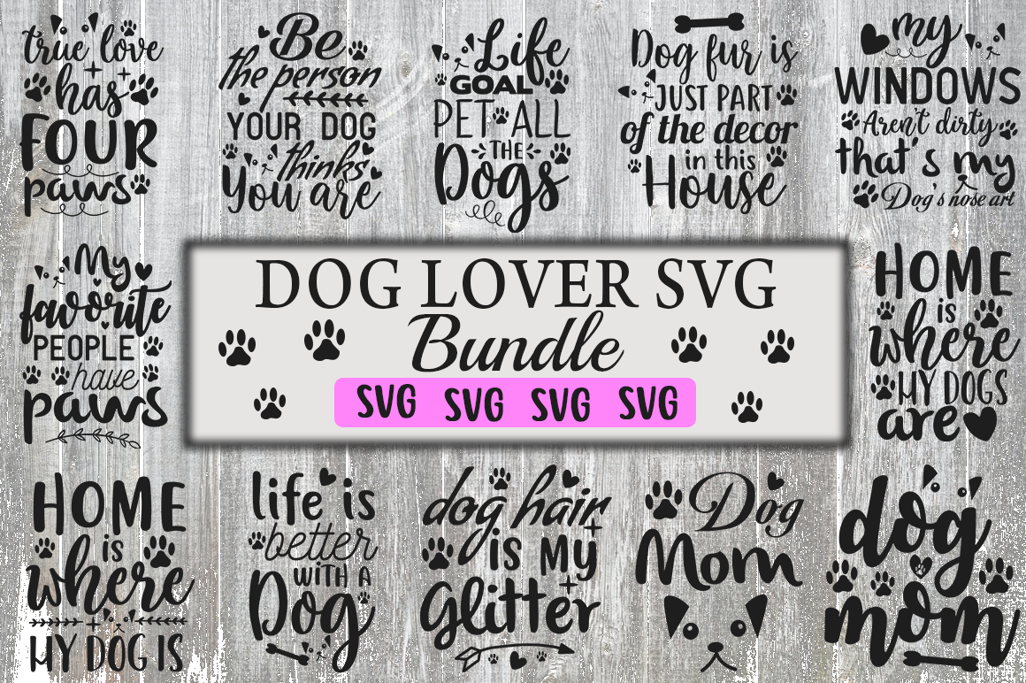 Download Free Dog Lover Design Bundle Graphic By Red Box Creative Fabrica for Cricut Explore, Silhouette and other cutting machines.