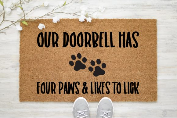 Download Free Doorbell Has Four Paws Outdoor Graphic By Onceuponadimeyxe for Cricut Explore, Silhouette and other cutting machines.