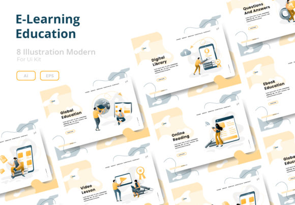 E-Learning Education Graphic Websites By Twiri
