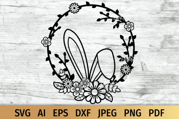 Download Free Easter Bunny Ears Graphic By Elinorka Creative Fabrica for Cricut Explore, Silhouette and other cutting machines.