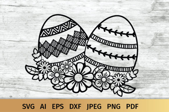 Easter Eggs Graphic Crafts By elinorka