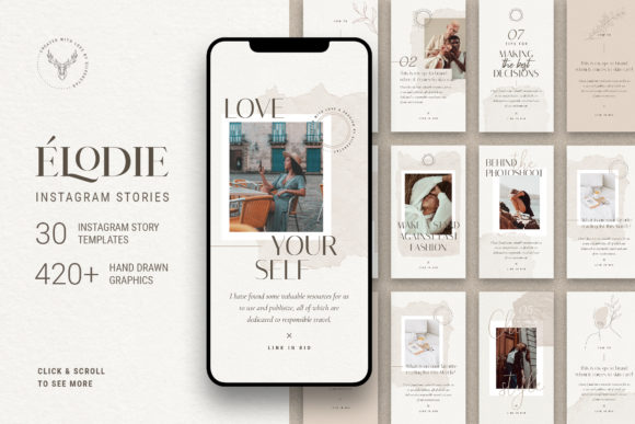 Print on Demand: Elodie - Instagram Story Templates Graphic Websites By SilverStag