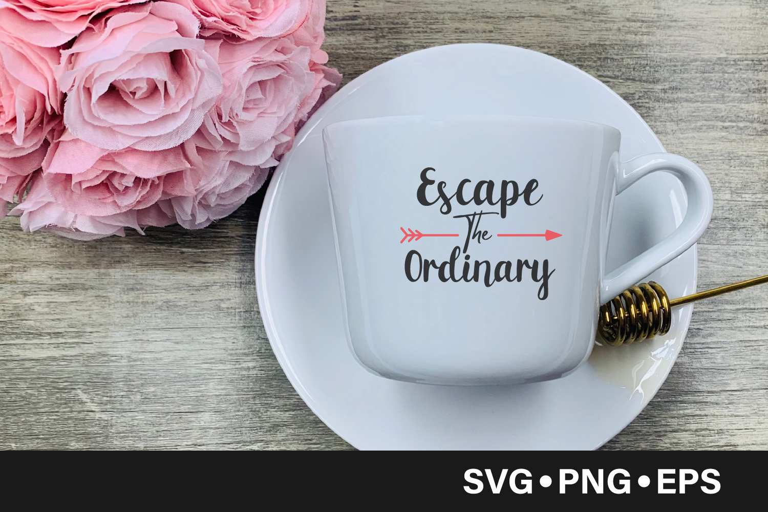Download Free Escape The Ordinary Quote Graphic By Vectorbundles Creative for Cricut Explore, Silhouette and other cutting machines.