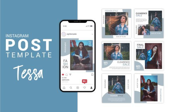 Fashion Instagram Post Template Graphic Websites By Eight Template Studio