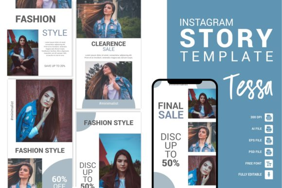 Fashion Instagram Story Template Graphic Websites By Eight Template Studio