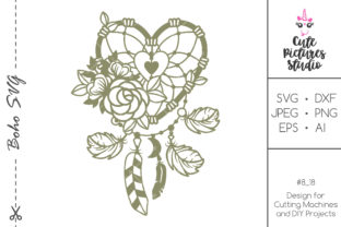 Download Free Floral Heart Dreamcatcher Cut File Graphic By Cutepicturesstudio for Cricut Explore, Silhouette and other cutting machines.