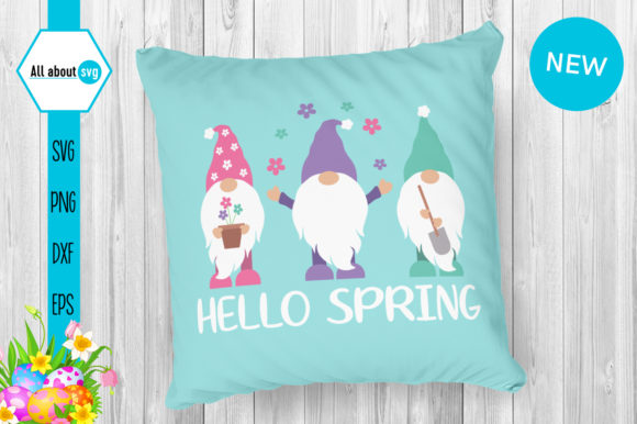 Download Free Gnomies Spring Spring Gnome Graphic By All About Svg Creative for Cricut Explore, Silhouette and other cutting machines.