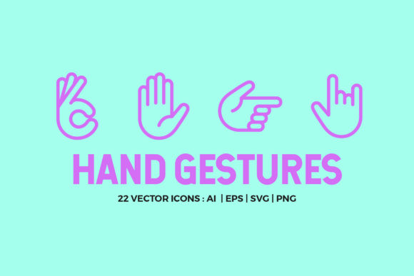 Hand Gestures Icon Pack Graphic Icons By abstractocreate