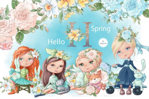 Print on Demand: Hello Spring Grafik Illustrationen von nicjulia