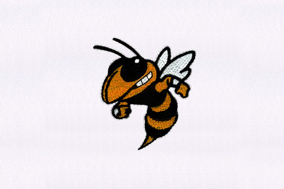 Honey Bee Insect Bugs & Insects Embroidery Design By DigitEMB