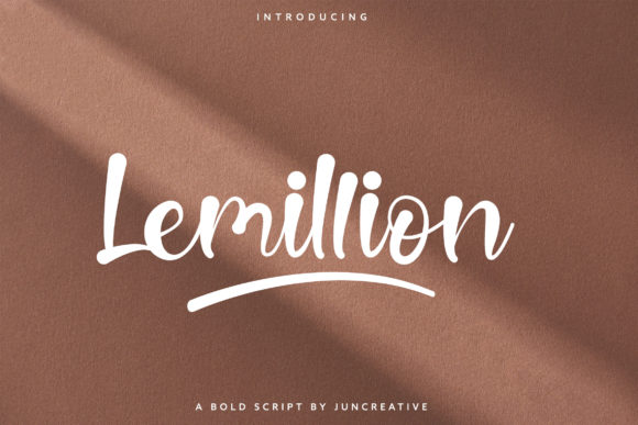 Print on Demand: Lemillion Script & Handwritten Font By Juncreative