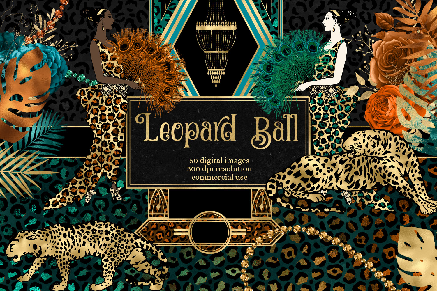 Download Free Leopard Ball Digital Scrapbook Kit Graphic By Digital Curio for Cricut Explore, Silhouette and other cutting machines.