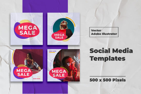 Mega Sale Instagram Feed Templates Graphic By Qohhaarqhaz