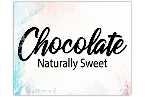 Download Free Melanin Chocolate Naturally Sweet Graphic By Ezzydesigns for Cricut Explore, Silhouette and other cutting machines.