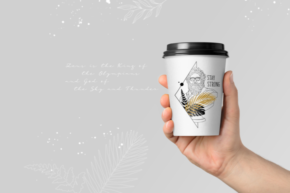 Print on Demand: Oh My Gods! Olympian Gods in Line Art Graphic Logos By Cosmic Store - Image 12