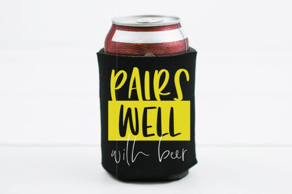 Download Free Pairs Well With Beer Drinking File Graphic By Onceuponadimeyxe for Cricut Explore, Silhouette and other cutting machines.