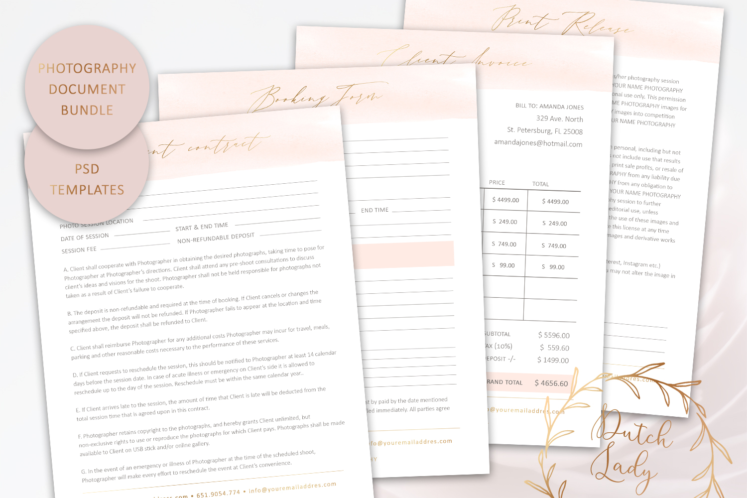 Download Free Photography Form Template Bundle 1 Graphic By Daphnepopuliers for Cricut Explore, Silhouette and other cutting machines.
