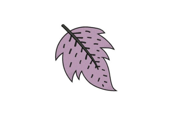 Purple Leaf Forest & Trees Embroidery Design By designsbymira