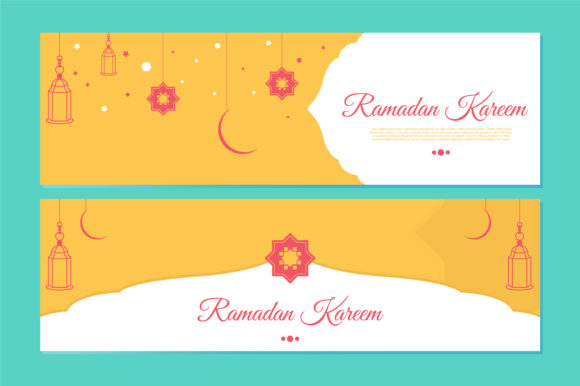 Download Free Ramadhan Kareem Banner Template Design Graphic By Qasas77 for Cricut Explore, Silhouette and other cutting machines.