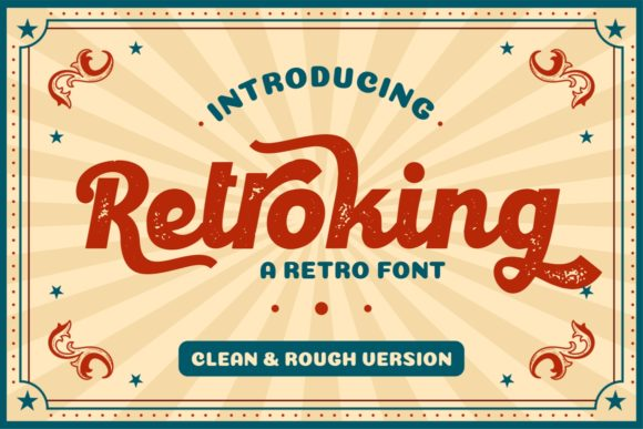 Print on Demand: Retroking Display Font By putracetol
