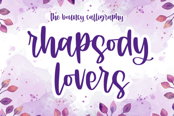 Print on Demand: Rhapsody Lovers Script & Handwritten Font By Abodaniel
