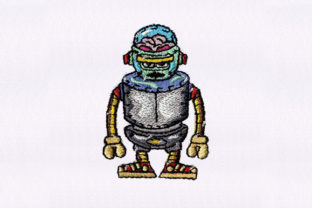 Robot Robots & Space Embroidery Design By DigitEMB