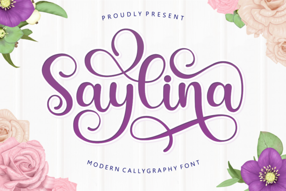 Print on Demand: Saylina Script & Handwritten Font By Holydie Studio - Image 1