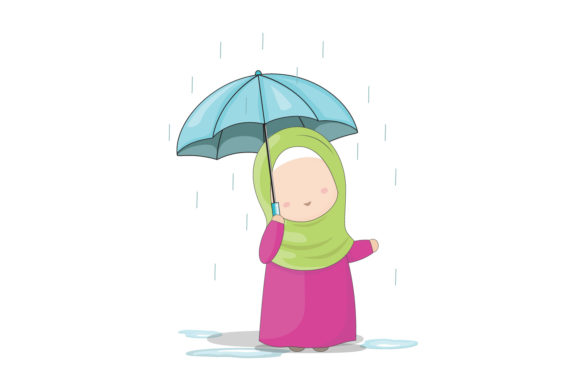 Download Free Set Of Hijab Girls Cartoon Characters Graphic By Aghadhia Studio for Cricut Explore, Silhouette and other cutting machines.